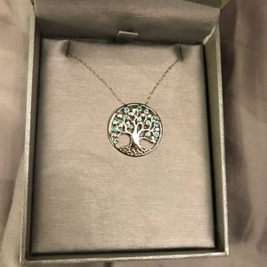 Jewelry - Tree of life necklace with May birthstone